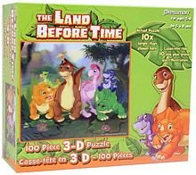 Picture of Pressman Toys Land Before Time: Dinosaurs Friends - 3D Lenticular Holographic 100 piece puzzle (B001F0EQ6I) (3D Puzzles)