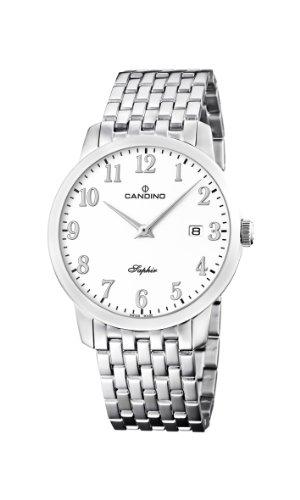 Candino C4416/2 - Reloj analógico de cuarzo para hombre, correa de acero inoxidable color plateado