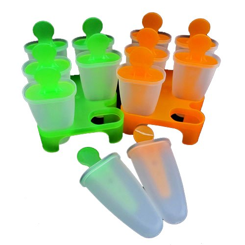 6 Cell Frozen Ice Cream Pop Mold Popsicle Maker Lolly Mould Tray Pan Kitchen Diy - Color Random