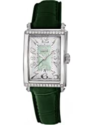 Gevril Women's 7246NT.6 Green Mother-of-Pearl Genuine Alligator Strap Watch