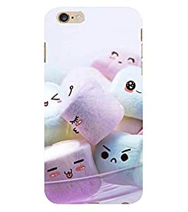D KAUR Marshmallow Faces Back Case Cover for Apple iPhone 6 Plus