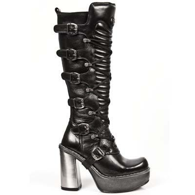 New Rock New Circle Boots Women - Black - Euro 37 / UK 4