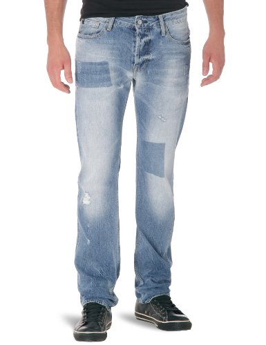 Japan Rags - Jeans tapered, uomo Blu (Bleu) 42 IT (28W/34L)