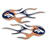 Denver Broncos NFL Micro Flames Auto Decal 2 Pack for Car Truck Motorcycle Bike Mailbox Locker Sticker Football Licensed Team Logo