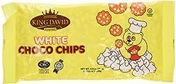 King David Kosher Vegan Lactose Free White Chocolate Chips 8.8oz (4 Packs)