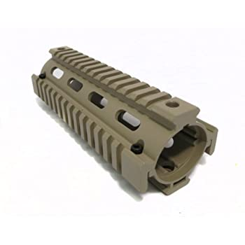 AR-15 Quad Rail Handguard, Carbine Length, 2 Piece Drop-In, Flat Dark Earth