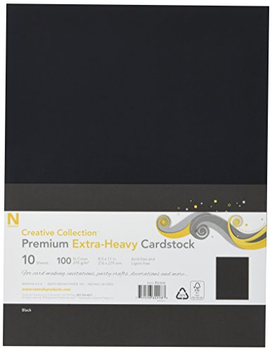 Heavyweight Black Cardstock