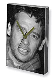 DEXTER FLETCHER - Canvas Clock (LARGE A3 - Signed by the Artist) #js001