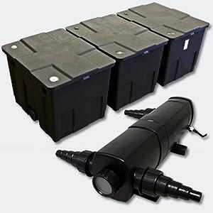 Kit SunSun de Filtration de Bassin Bio Filtre 90000l Stérilisateur UVC 18W