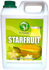 Possmei Flavored Syrup, Starfruit, 5.5 Pound