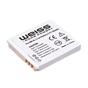 WEISS Camera Replacement Battery NB-4L Li-lon for Canon Digital IXUS 70 / 75 / 100 IS / 110 IS / 120 IS