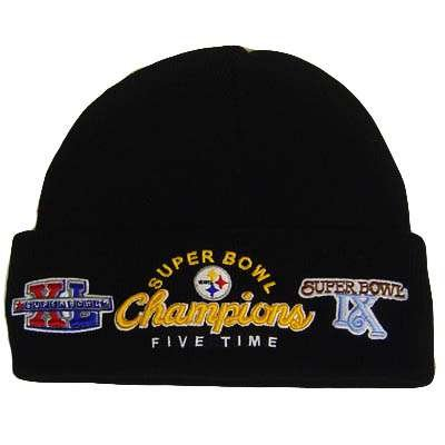 NFL PITTSBURGH STEELERS SUPER BOWL CHAMPS KNIT BEANIE