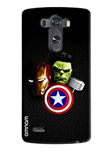 Omnam Printed Hunk,Ironman heros back Cover for LG G3