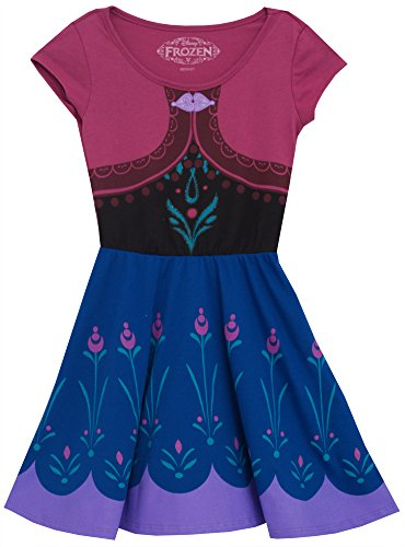Disney Frozen I Am Anna Girls Skater Dress