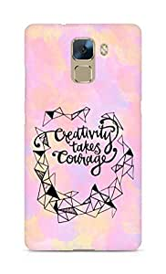 AMEZ creativity takes courage Back Cover For Huawei Honor 7