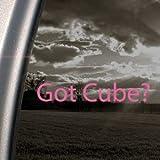Got Cube? Pink Decal Nissan Cube Car Truck Window Pink Sticker
