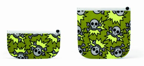 BUILT  Reusable Sandwich & Snack Bags, Skeleton Army, Olive - 1