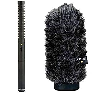 NTG-2 Battery or Phantom Powered Condenser Shotgun Microphone + Rode WS6 Deluxe Windshield