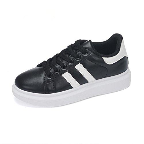 (Si prega di acquistare cantieri del secondo anno) scarpe casual scarpe bianche femminile coreano di marea scarpe da ginnastica crosta spessa(nero,40)