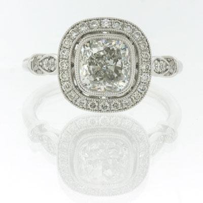 2.01ct Cushion Cut Diamond Engagement Anniversary