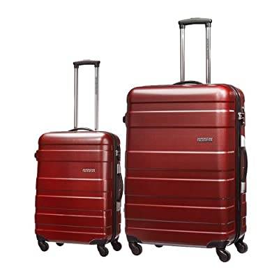 American Tourister By Samsonite Pasadena 4 Wheel Hard Case Spinner 2 Piece Suitcase Set, Large And Small Size- 4 Colors