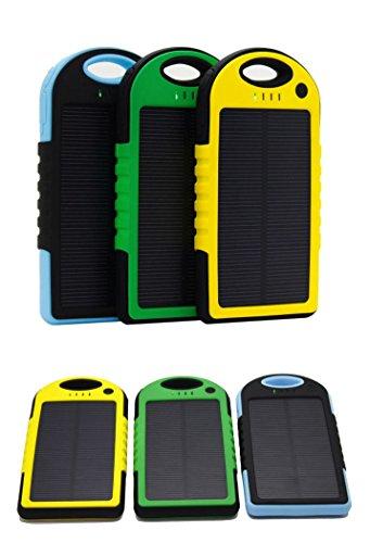 5000mAh防水/防塵/耐衝撃アウトドア向けソーラー 充電器 ソーラーバッテリー 大容量 iPhone・iPad・スマートフォン(スマホ)対応 LEDライト付 モバイルバッテリー /リチウムイオンポリマーバッテリー(LIT-SHOP) (グリーン)