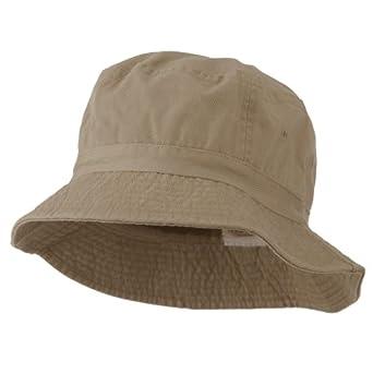 Pigment Dyed Bucket Hat-Khaki M-L at Amazon Men's Clothing ...