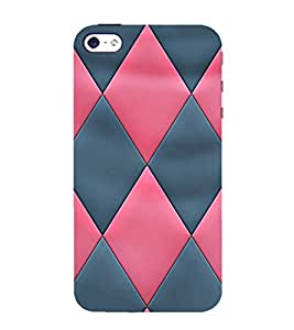 99Sublimation Cross Checks In Multi Colour Pattern 3D Hard Polycarbonate Back Case Cover for Apple iPhone 5