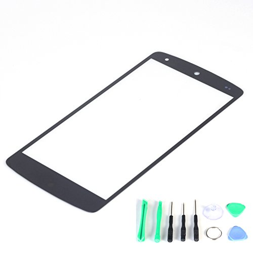 Generic Front Screen Glass Lens Replacement Part (Lcd And Digitizer Not Included) For Lg Google Nexus 5 D820 D821 (Black)