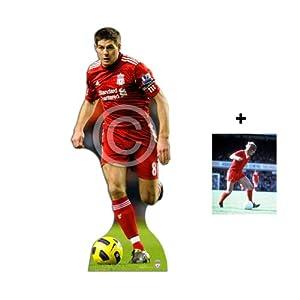 Fan Pack - Steven Gerrard Action - Lifesize Footballer Cardboard Cutout Standee Standup - Liverpool Lfc - Includes 8x10 25x20cm Star Photo - Fan Pack 198 by (Websweep Limited) Footballer Fan Packs