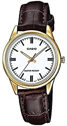 Casio Women's LTP-V005GL-7A Brown Genuine Leather Band Analog Watch