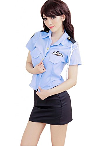 OMG Women's Blue Sexy Police Officer Costume
