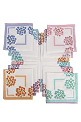 Klair Printed Cotton Handkerchief For Womens (Pack Of 12)