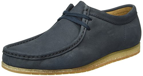 Clarks Originals Wallabee Step, Mocassini Uomo, Blu (Navy Nubuck), 43 EU