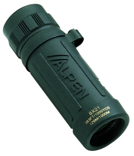 Alpen Green Rubber Covered Monocular
