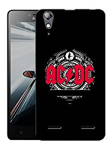 "Humor Gang Ac Dc Rocks Printed Designer Mobile Back Cover For ""Lenovo A6000 - A6000 PLUS"" (3D, Matte, Premium Quality Snap On Case)"