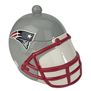 "9"" NFL New England Patriots 2-in-1 Ceramic Soup Tureen / Cookie Jar"