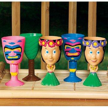 Plastic Tropical Goblet (1 ct)