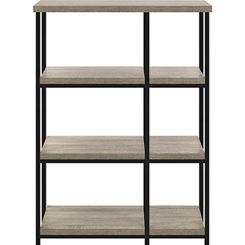 3 Shelves Elmwood Standard Bookcase, Metal Legs, Oak Finish Altra 3 Shelf Bookcase