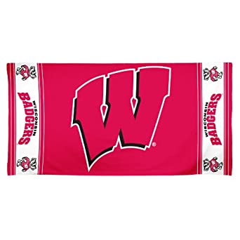 Buy NCAA Wisconsin Badgers 30 by 60 Fiber Reactive Beach Towel by WinCraft