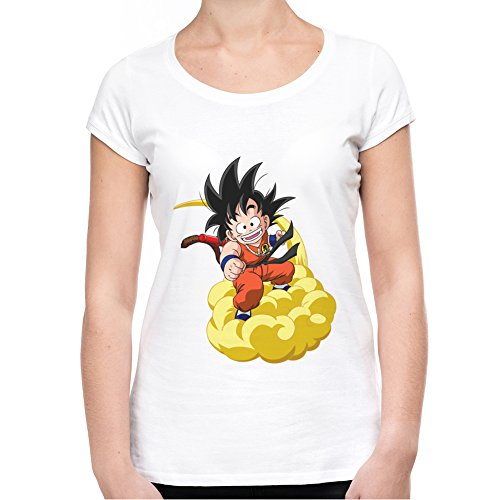 Son-Goku-On-Cloud-Fan-Art-Camiseta-Mujeres-XX-Large