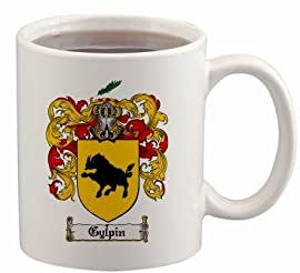 Gylpin Coat of Arms Mug / Family Crest 11 ounce cup