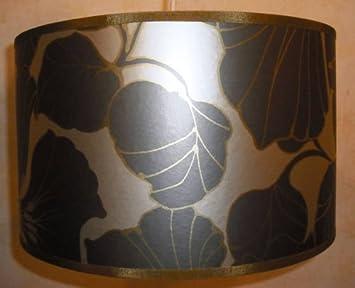 abat jour fait main main 36cm harlequin taupe or cuisine maison m130. Black Bedroom Furniture Sets. Home Design Ideas