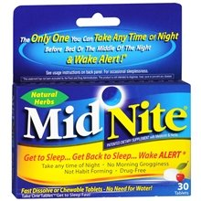 MidNite Herbal Sleep Supplement Chewable Tablets 30.0 ea. (Quantity of 4)