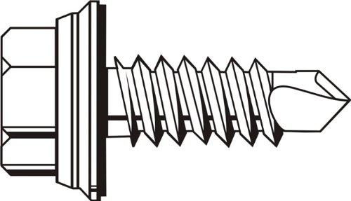 Steel Sheet Metal Screw Type B Zinc Plated Phillips Drive 1 Length #8-18 Thread Size Pack of 5000 Pan Head
