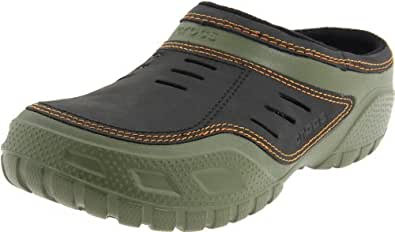 Crocs Men's Yukon Sport Lined Clog,Army Green/Black,10 M US