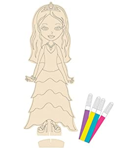 12 Inch All Dolled Up Wooden Doll Marker Kit - Prom Queen