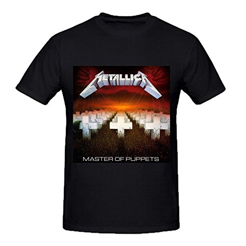Metallica Master Of Puppets Funny Tee Shirts for Men Crew Neck Black (Metallica Devil Shirt compare prices)
