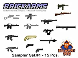 BrickArms Sampler Set with 15 Pieces - Minifigure Scale