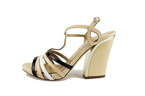 GIANNI MARRA sandali donna beige pelle AG403 (38 EU)